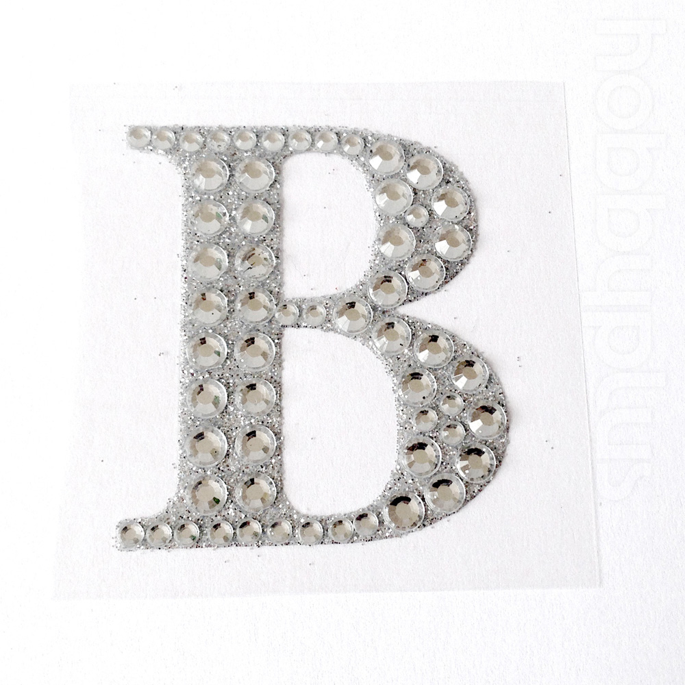 55cm large self adhesive letters numbers diamante favour for Self stick letters