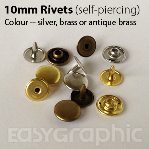 100 Tube Rivets Die Set Punch Tool Mini Eyelets Leather craft Print Paper 8mm